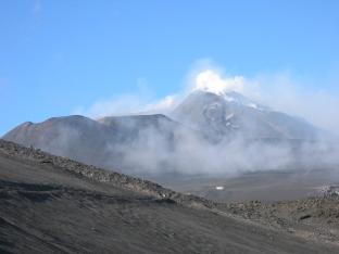 Looking up at main crater 2006