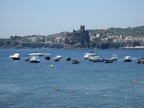 Aci Castello viewed from Aci trezza