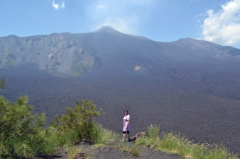 at the top Etna Mt Zocc