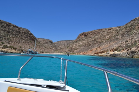 Day boat hire at Lampedusa is a cost-effective way of exploring the coastline independently.