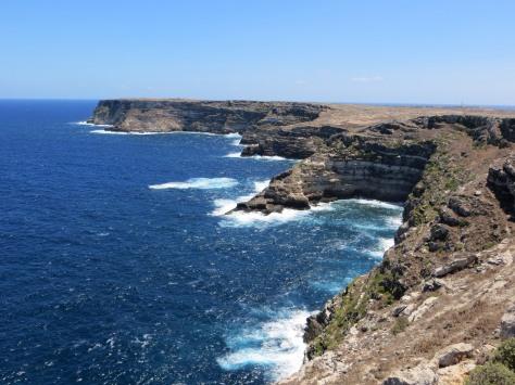 The stunning coastline of Lampedusa