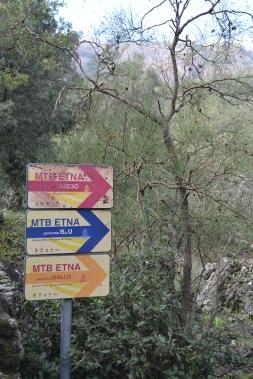 MTB trails Etna