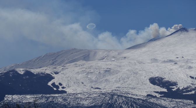 Smoke rings from Etna